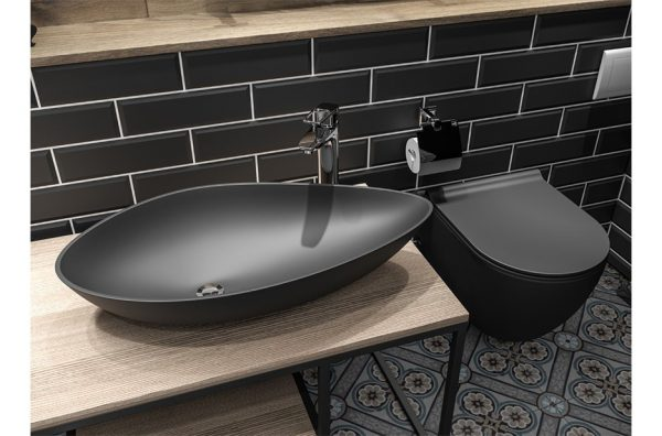 nadgradni lavabo suza mat crni